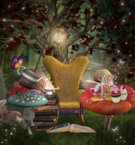best selling Fairy tale theme Vinyl Custom Photography Backdrop Prop Photo Studio Backgrounds TTW-40