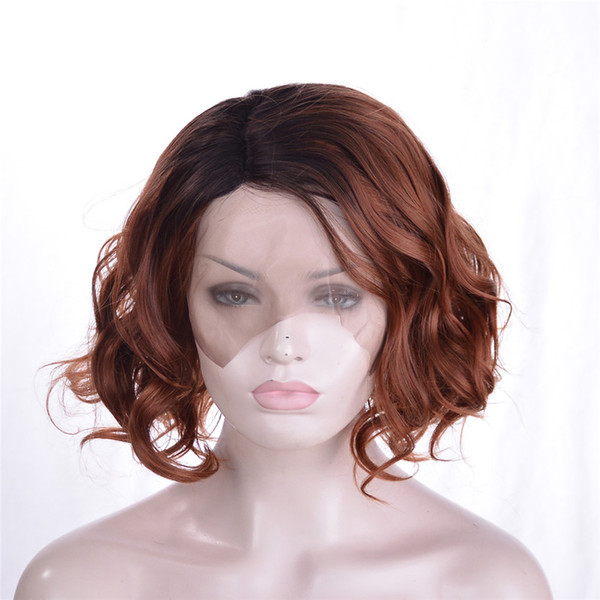kabell African American Fashion wigs lace front wigs Mixed hair Short hair 14 inch Big wave hairstyle lace front wigs kabell Free freight