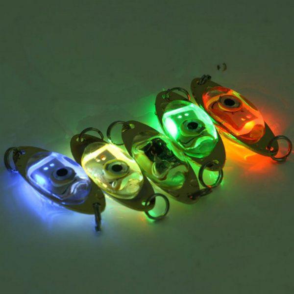 Free shipping Wholesale Flash Lamp LED Deep Drop Underwater Eye Shape Fishing Squid Lure Light free shipping