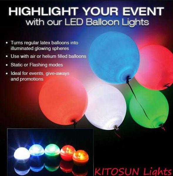 Fée LED Perles De Mariage Décoration 2 CM Mini Coloré Petite Batterie Led Baies Étanche Flottant LED Lumières Fête ballon vacances lumières