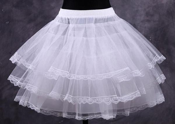 Blanc Pas Cher Blanc Robe De Bal Court Robe De Jupon Robes Jupons Crinoline Accessoires De Mariée Jupon De Bal Fantaisie Femmes Jupe