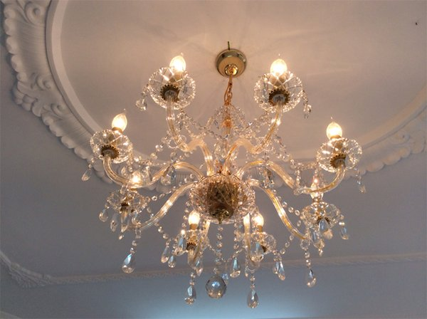 Gold Crystal Chandelier 8 Lights Contemporary Ceiling Chandelier – Candle Crystal Chandelier