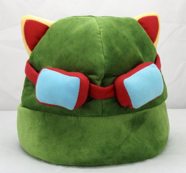 League of Legends cosplay cap Hat Teemo hat Plush+ Cotton LOL plush toys Hats EMS Free Shipping
