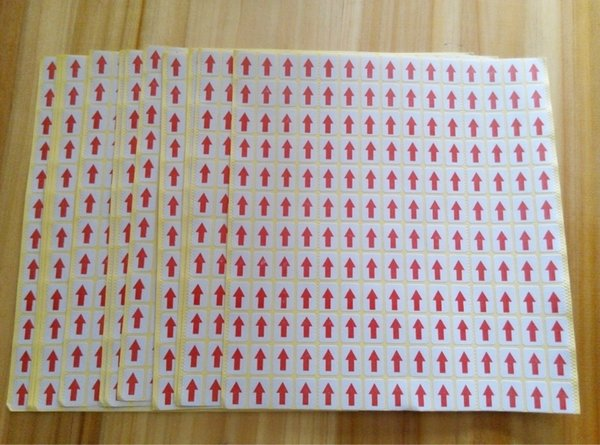 best selling TOP stock 9*13mm red arrow QC checking paper self adhesive label sticker