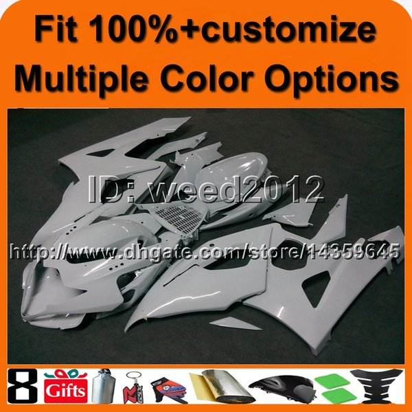 23colors+8Gifts Injection mold WHITE bodywork motorcycle cowl for Suzuki GSX-R1000 2005-2006 05 06 GSXR 1000 ABS Plastic Fairing