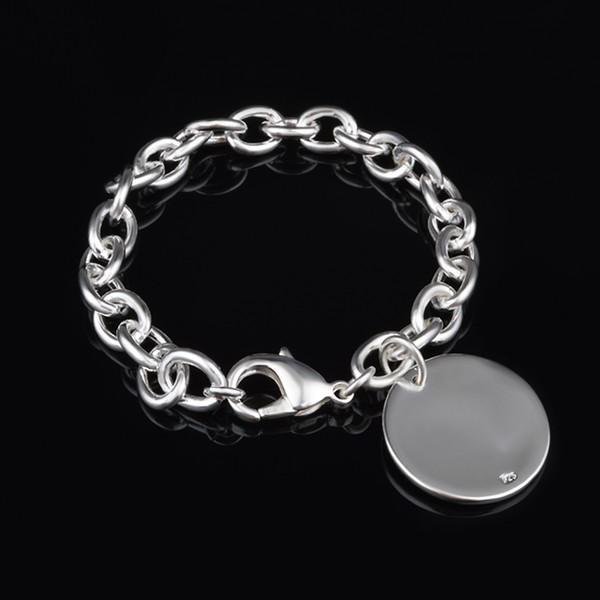 Envío gratis con número de seguimiento de la venta superior 925 pulsera de plata Europa licencia redonda pulsera de plata joyería 20pcs / lot barato 1772