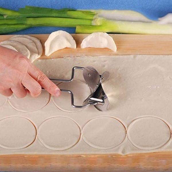 Atacado-Aço Inoxidável Massa Imprensa Dumpling Maker Molde Torta Ravioli Cozinhar Pastelaria Ferramentas Círculo Bolinho Wraper Cortador Que Faz A Máquina