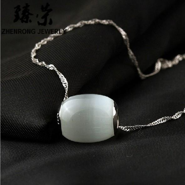 Fashion Opal Bead Pendant Chokers Necklaces Charms Jewelry for Weddings Sale Women Girls Cheap Match Prom Dresses WITHOUT CHAIN Necklace