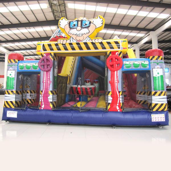 AOQI inflatable fun city inflatable Dr.Sciencel fun city inflatable fun land for kids for sale made in China