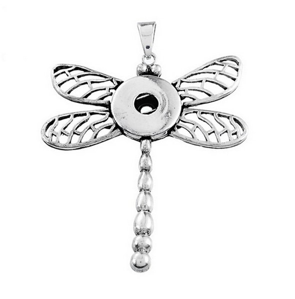 New Fashion NOOSA Ginger Snaps Button Dragonfly & Butterfly Pendant DIY Interchangeable Jewelry Perfect Gift DCBJ811