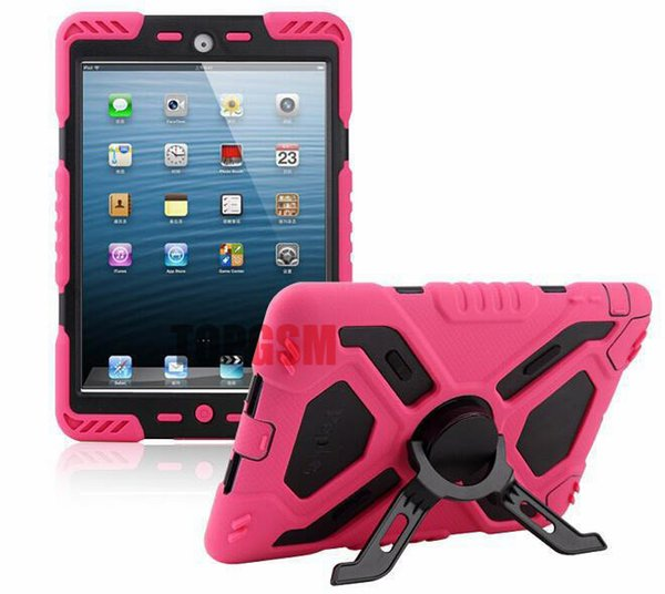 For ipad 6 For ipad air 2 Pepkoo Spider case Military Heavy Duty Waterproof Dust/Shock Proof tablet Case with retail package Free Shipping