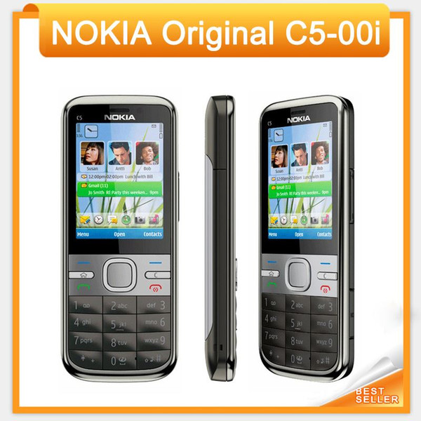 Original C5 Unlocked Nokia C5-00i Mobile Phone Camera 3.2MP / 5MP GPS Bluetooth C5-00 Mobile Phone