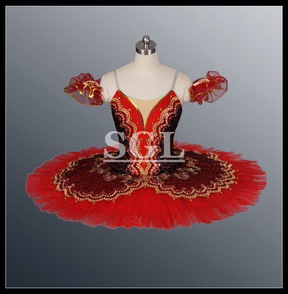 Free Shipping Adult Dance Troupe Theatrical Costume Classical Ballet Tutu Ballet Costume Girls Stage Wear For Ballet AT1057A
