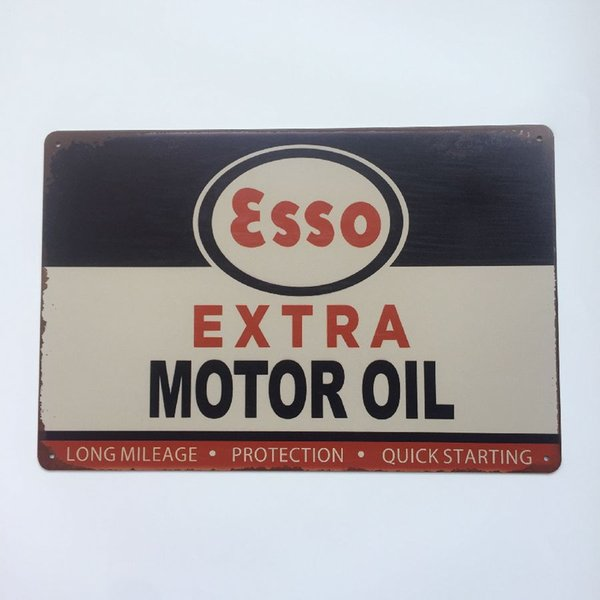 Esso Extra Motor Oil Retro Vintage Metal Tin sign poster for Man Cave Garage shabby chic wall sticker Cafe Bar home decor