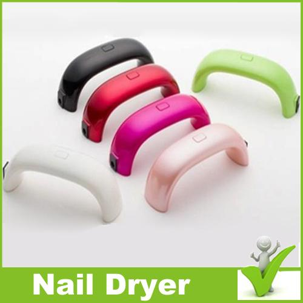 Small package 9w Cute Nail Art Gel Polish Lamp Led UV Light Dryer Finger Dry Mini LED Nail Lamp hotl dryer dhl Free Shipping