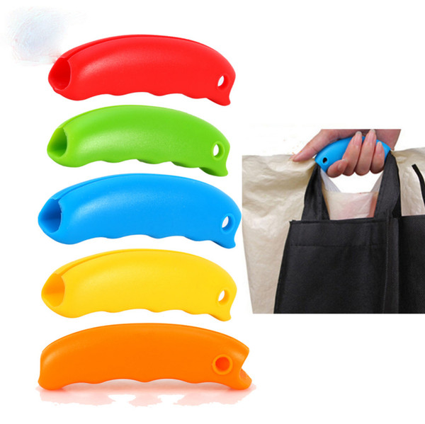 Silicone Hooks For Hanging Handbag Basket Shopping Bag Holder Carry Bag Handle Comfortable Grip Protect Hand Tools Random Color