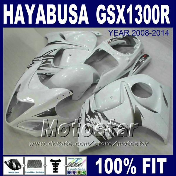 Carenados de moldeo por inyección para SUZUKI Hayabusa GSX1300R 2008 2009 2010 2011 2013 2014 gris blanco GSX 1300R 08-14 juegos de carenado GSXR 1300 PL23