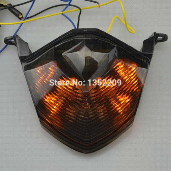 1 Unids LED Integrado Freno Trasero Cola Tight Indicador Señales de Giro Adecuado Para Kawasaki Ninja ZX10R ZX 6R Z1000 Z750 Lente AhumadaNuevo M53322
