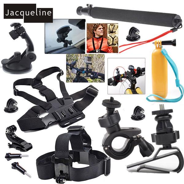 Freeshipping Set Kit Accessories For GoPro Hero 4 Session Hero 5 3+ 3 2 SJCAM SJ4000 SJ5000 SJ6000 /EKEN H9R H9 H8 /SOOCOO