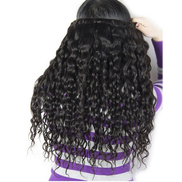 Grade 8A--Virgin Hair Brazilian Water Wave 50g per bundles &6 Bundle one lot 100% Human Hair Weaves Wet and Wavy remy