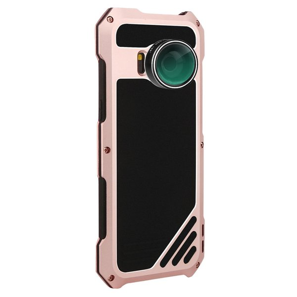 For Samsung S8 Phone Case Screen Protector Dustproof Shockproof Dust proof High Impact Aluminum Alloy Case With 3 Separated Camera Lens Kit