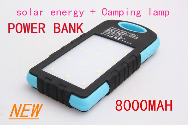 wholesale NEW hot sale 8000 mAh Cargador Portatil Solar Power LED camping lantern Bateria Pack Energy Bank Sun Battery Charger Powerbank