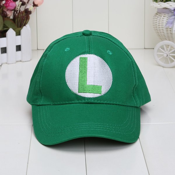 Wholesale-Super Mario Bros Baseball Hat Caps Mario Luigi Hats 5colors Red Green Yellow White Purple