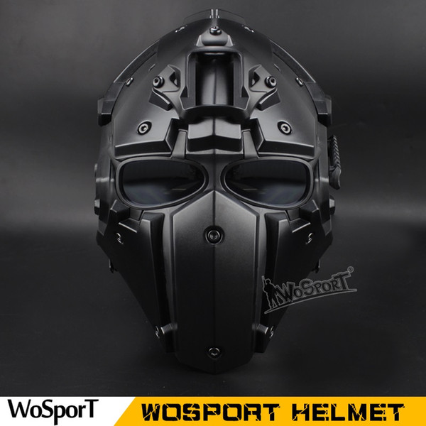 top popular WoSporT Hot Tactical OBSIDIAN GREEN GOBL TERMINATOR Helmet & Masksunglas goggle for Hunting Paintball airsoft tactical equipment 2021