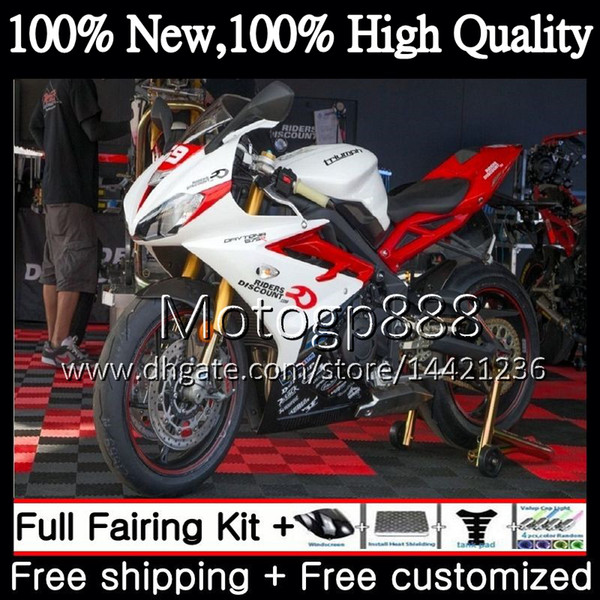 Bodywork For Triumph Daytona 675 13 14 15 16 White black Body 9PG5 Daytona675 13-16 Daytona 675 2013 2014 2015 2016 red Fairing Bodywork