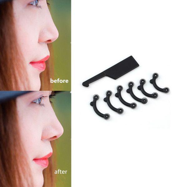 6PCS/Set 3 Size Beauty Nose Up Lifting Bridge Shaper Massage Tool No Pain Nose Shaping Clip Clipper Women Girl Massager NA950