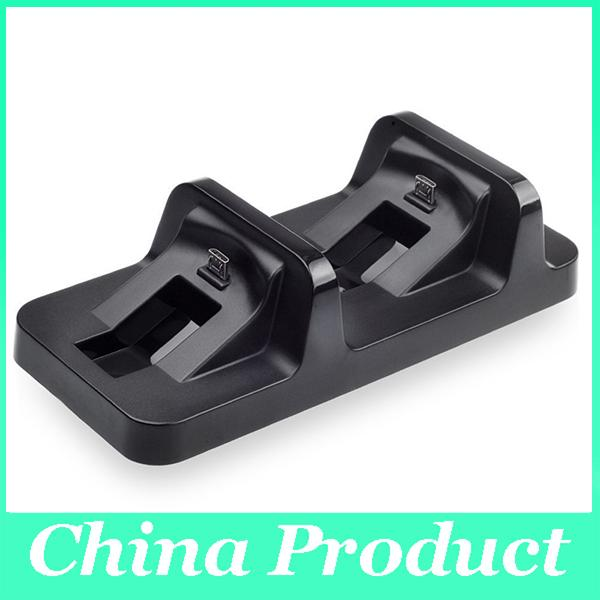 Black DC 5V USB Port Dual Charging Dock Station Stand For Sony PS4 Wireless Controller For PlayStation Charger Dock 010205