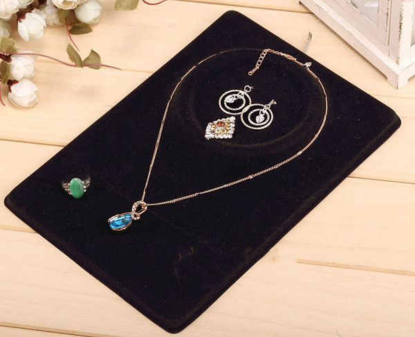 best selling Jewelry Set Display Cards Earring Necklace Ring Pendant Display fashion Cards Cream   Black w  OPP Plastic Bag