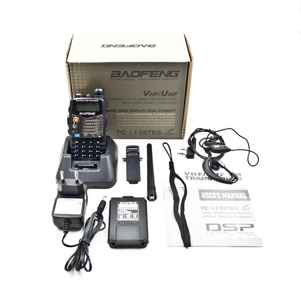 All'ingrosso-BAOFENG Nuovo Dual Band UV-5RA Amatoriale palmare Radio bidirezionale UHF / VHF 128 canali FM Ham walkie talkie Ricetrasmettitore Auricolare