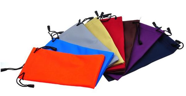 Nueva Funda para teléfono móvil Gafas de sol Estuche de gafas 3D Soporte impermeable Bolsa de polvo suave Bolsa de transporte