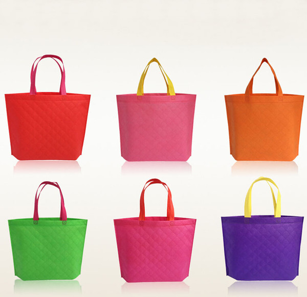 top popular Reusable Cotton Shopping Bag Convenient Grocery Tote Eco-Friendly Foldable Bag For Shopping 8 Colors Shopping Bag Tote Shoulder Bag Free DHL 2019