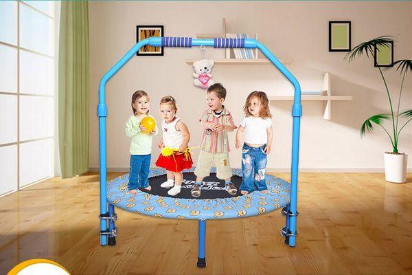 Atacado-40 polegadas Folding bandas elásticas cama elástica trampolim de alta qualidade cama salto com braço ajustável