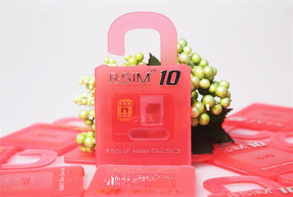 2015 Newest Unlock Card R-SIM 10 RSIM 10 R SIM 10 directly used for iphone 6/6plus/5s/5c/5 iOS6. X-8.X WCDMA GSM CDMA DHL Free Shipping
