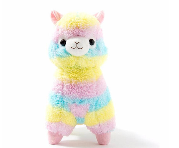 best selling 17cm Cute Rainbow Alpacasso Kawaii Alpaca Llama Arpakasso Soft Plush Toy Doll Stuffed Animals Boy girl birthday gift