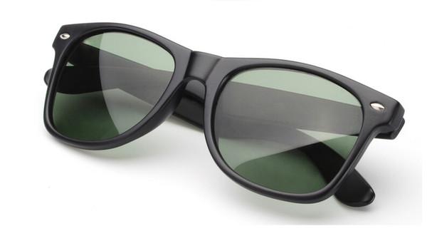 2015 black frame green Glass lens men women Sunglasses Classic UV400 50mm 54 mm Sun Glasses Eyeglasses Eyewear