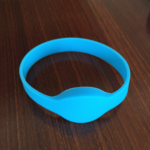 best selling ISO14443A 13.56MHZ MIFARE Classic® 1K rfid silicone wristbands Blue Color Adult Size Door Access 5pcs