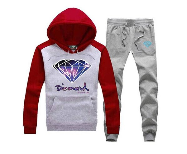 03 WinterAutumn Fashion Brand Hoodies Hombres Casual Sportswear Male Hoody Traje de sudadera Diamond Supply (S-5XL) Chándales de manga larga