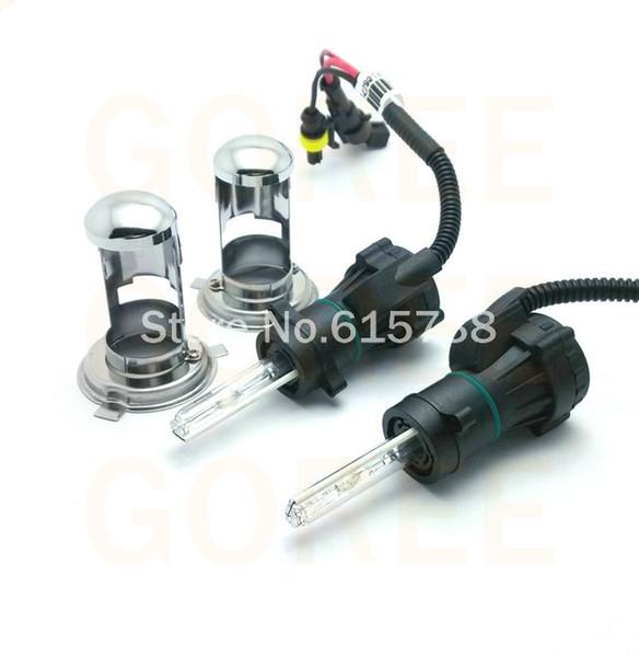 top popular 1 pair 12V AC 4300K 6000K 8000K Car Auto H4-3 Bi Xenon Light H4 Hi Lo Beam HID Bulbs Bi-Xenon H4 For Car Headlight 2019