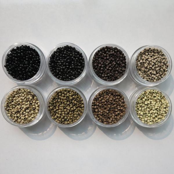 1000pcs / бутылка 4.0mmx2.7mmx2.5 мм микро меди нано кольцо ссылка бусины наращивание волос инструменты 7 цветов
