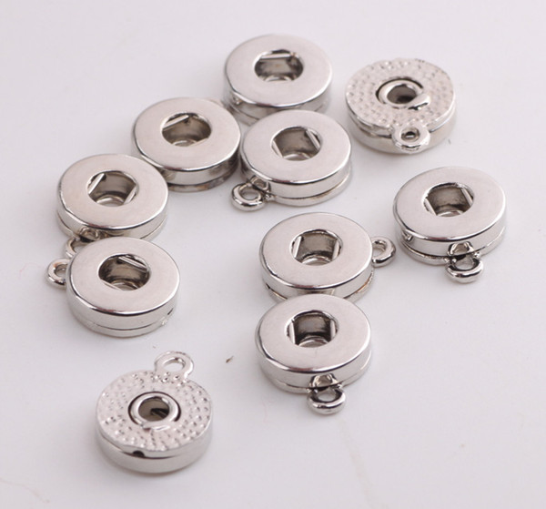 best selling Silver Gold Alloy 18mm Noosa Ginger Snap Base Interchangeable Accessories for Jewelry Snap Button Base DIY Jewelry Accessory j4855