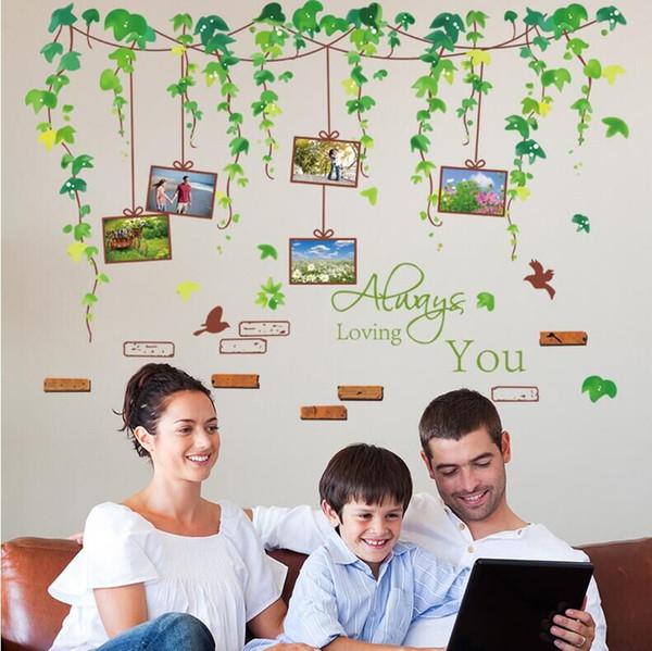 ew Green Tree Photo Frame Wall Stickers Home Decor XL8148 Adesivi ...