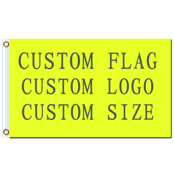 best selling FREE SHIPPING Wholesale Digital Printing Single layer Polyester Custom Design Flag 3x5ft with Two Brass Grommets