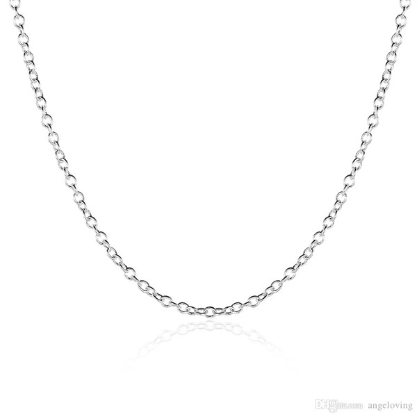 New Arrival 925 Silver Plated 1mm 18inch O Chains Necklace Thin Chain Fit All Pendant Necklace Free Shipping