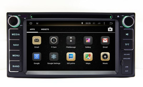 Android 7.1 Car DVD Player GPS Navigation for Toyota Fortuner Land Cruiser Innova Tundra Kluger Hiace Vios with Radio BT USB WIFI