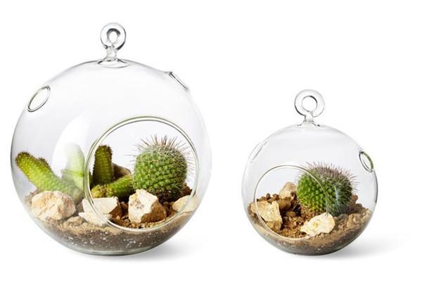2PCS / set Orb Terrarium, Luft Pflanze Terrarium, hängenden Globus Kerzenhalter - Hochzeit oder Home Decor