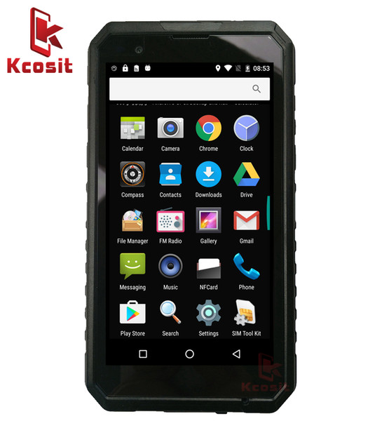 Wholesale- 2017 original Kcosit S10 1D 2D Laser Barcode Scanner Android Handheld Terminal Rugged IP68 Waterproof 3GB RAM 5000mA GPS NFC